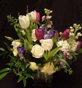 Bukiet barwnych kwiatów